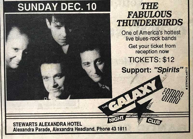 The Spirits support The Fabulous Thunderbirds at The Galaxy