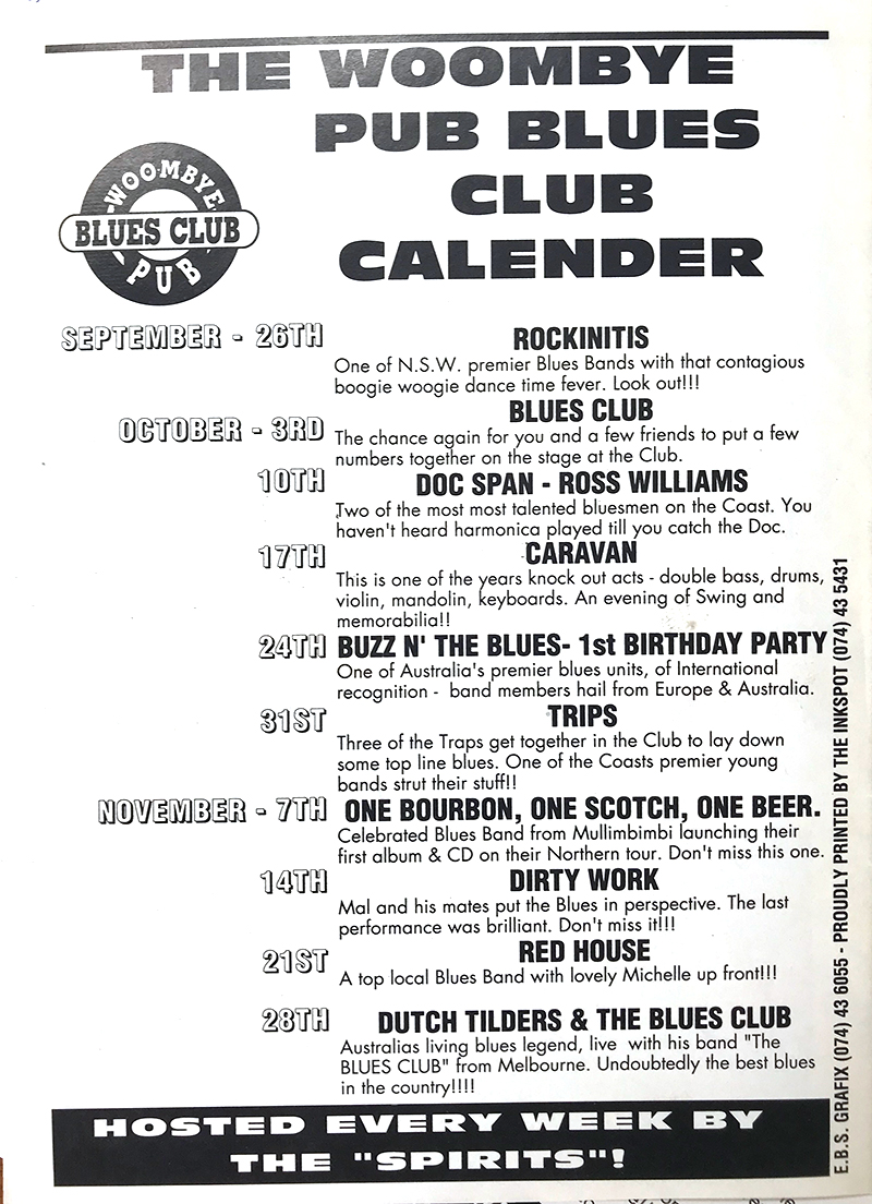The Blues Rag Calendar