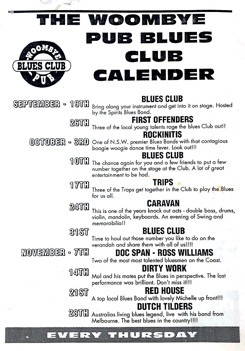 The Blues Rag Calendar
